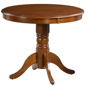 Andover Mills Aahil Rubberwood Solid Wood Dining Table Color: Saddle Brown