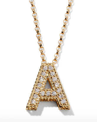 Roberto Coin 18k Diamond Princess Letter Necklace