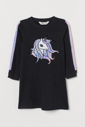 H&M Sequin-embellished dress