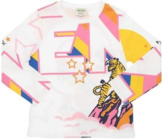 Kenzo Kids Tiger Organic Cotton Jersey T-Shirt