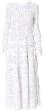 Carolina Herrera Women's Crochet Knit Midi Dress