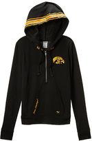 PINK University of Iowa Bling Perfect Half Zip Hoodie