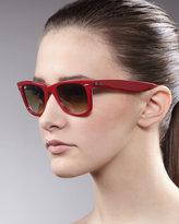 Wayfarer Sunglasses, Red/Brown