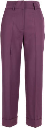True Royal Polyester Trousers