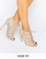 Asos ELECTRA Wide Fit Heeled Shoe Boots