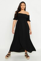 boohoo Plus Off Shoulder Maxi Dress
