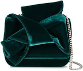 No.21 velvet bow cross body bag