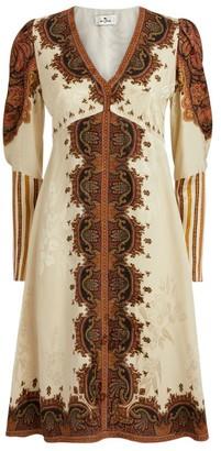 Etro V-Neck Paisley Dress