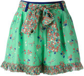 Manoush floral print shorts - women - Silk - 36