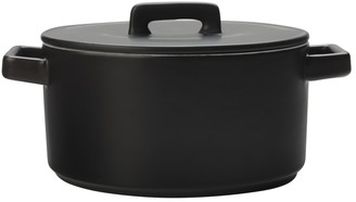 Maxwell & Williams Epicurious Round Casserole 2.6L Black Gift Boxed
