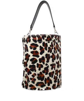 Leigh Ann Barnes Cheetah-Print Vinyl Bucket Bag
