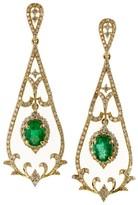 Effy Jewelry Effy Brasilica 14K Yellow Gold Emerald & Diamond Earrings, 1.78 TCW