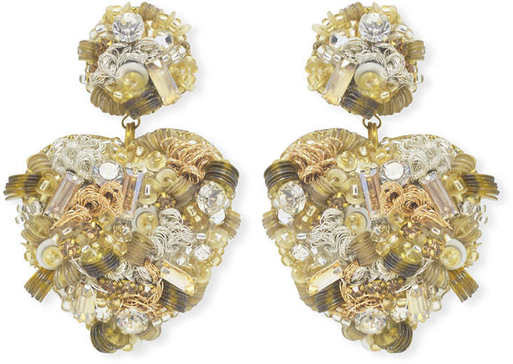 Suzanna Dai Sagrado Heart-Drop Earrings