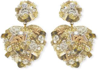 Suzanna Dai Sagrado Heart-Drop Earrings