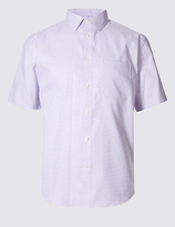 M&s Collection Pure Cotton Square Textured Shirt