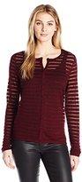 Anne Klein Women's Sheer Stripe Cardigan