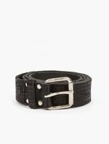 Comme Des Garcons Shirt Embossed Leather Belt