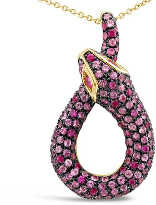 LeVian Le Vian 14K Strawberry Gold 2.02 Ct. Tw. Pink Sapphire Pendant Necklace