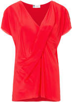 Lanvin draped V-neck blouse