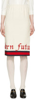 Gucci Off-white modern Future Gardenia Skirt