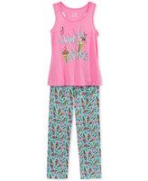 Max & Olivia 2-Pc. Sweet Dreams Pajama Set, Big Girls (7-16)