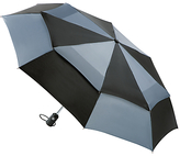 Totes Wonderlight Auto Double Canopy Umbrella, Black/grey
