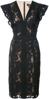 Tadashi Shoji lace embroidered fitted dress