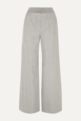 Loro Piana Cashmere-blend Wide-leg Track Pants - Light gray