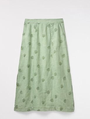 White Stuff Roller Linen Maxi Skirt