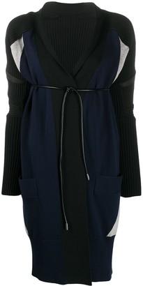 Sacai Belted Long-Sleeve Cardigan