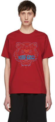 Kenzo Red Two-Tone Tiger T-Shirt