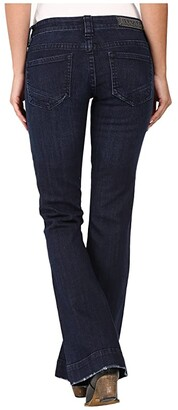 Rock and Roll Cowgirl Trousers Low Rise in Dark Wash W8-8486