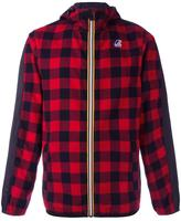 No.21 X K-Way plaid jacket