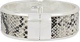 Kenneth Cole New York Snake-Patterned Faux-Leather Hinged Bangle Bracelet