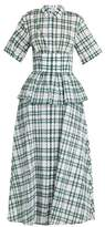 Rosie Assoulin Boogie Woogie checked-seersucker dress