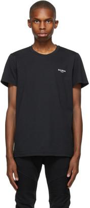 Balmain Black Eco Flocked T-Shirt