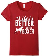 Men's Cute Life is Better with a Boxer Around TShirt Love Medium