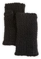 Portolano Wool-Blend Fingerless Glove, Black
