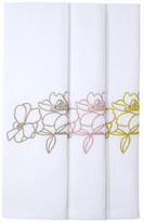 Yves Delorme IDYLLE SET OF 3 WAFFLE GUEST TOWELS 42 X 70 cm