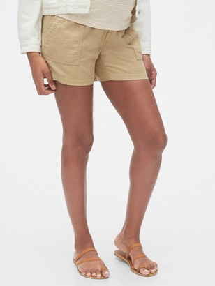Gap Maternity Shorts in Linen-Cotton
