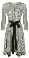 Sportmax Agguati Striped Waist-Tie Dress