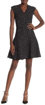 Rebecca Taylor Sparkle Metallic Tweed Mini Dress