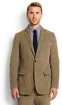 Classic Men's Tailored Fit 18-wale Corduroy Blazer-Navy Plaid