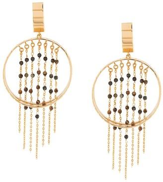 IVI Tiger Fringe earrings