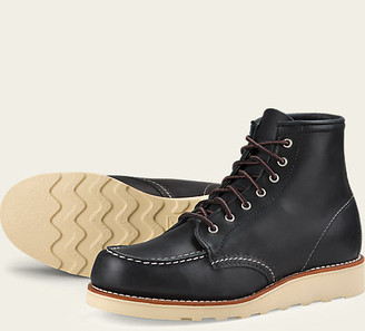 Red Wing Shoes 3373 6 Inch Moc Toe Black Women - US 6 - Black