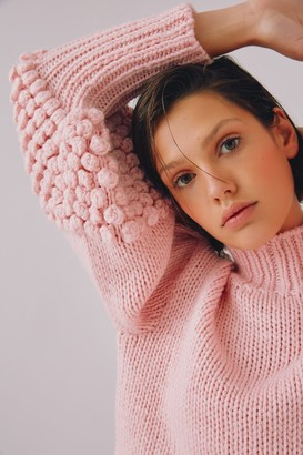 C/Meo CONNECTED KNIT JUMPER soft pink