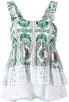 Tory Burch floral print pleated top