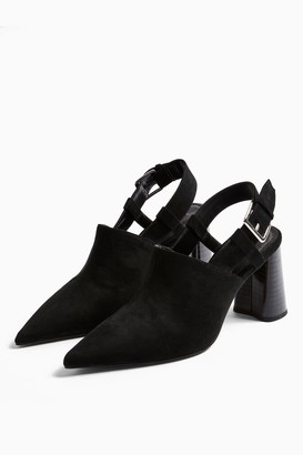 Topshop FARGO Black Heeled Shoe Boots