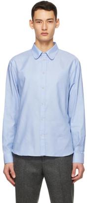 Gucci Blue Oxford Round Collar Shirt