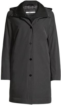 Jane Post Loro Piana Hooded Wool Double Coat
